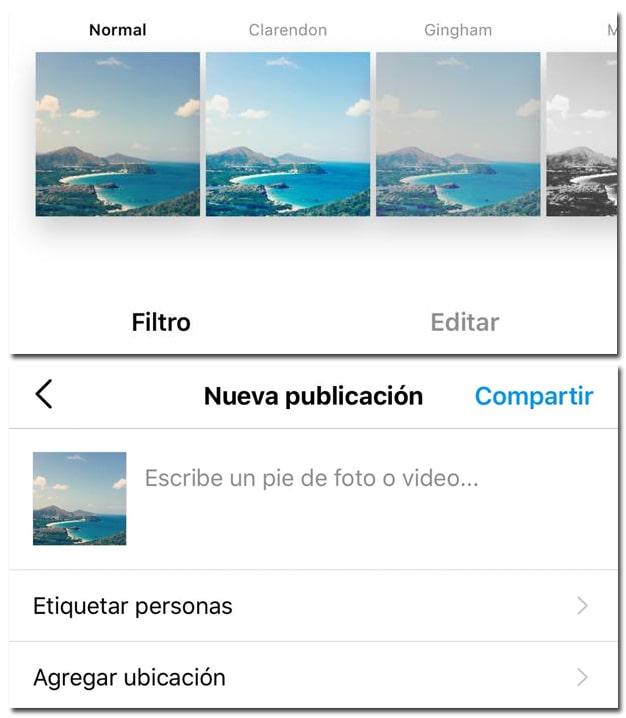 subir fotos a Instagram paso a paso