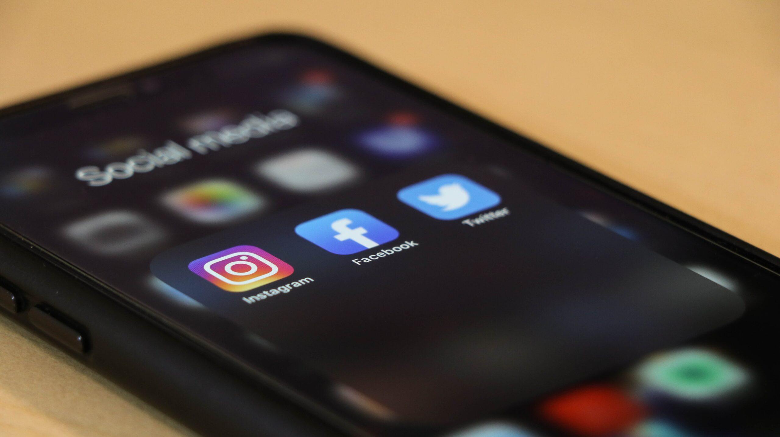 Apps de redes sociales en el móvil