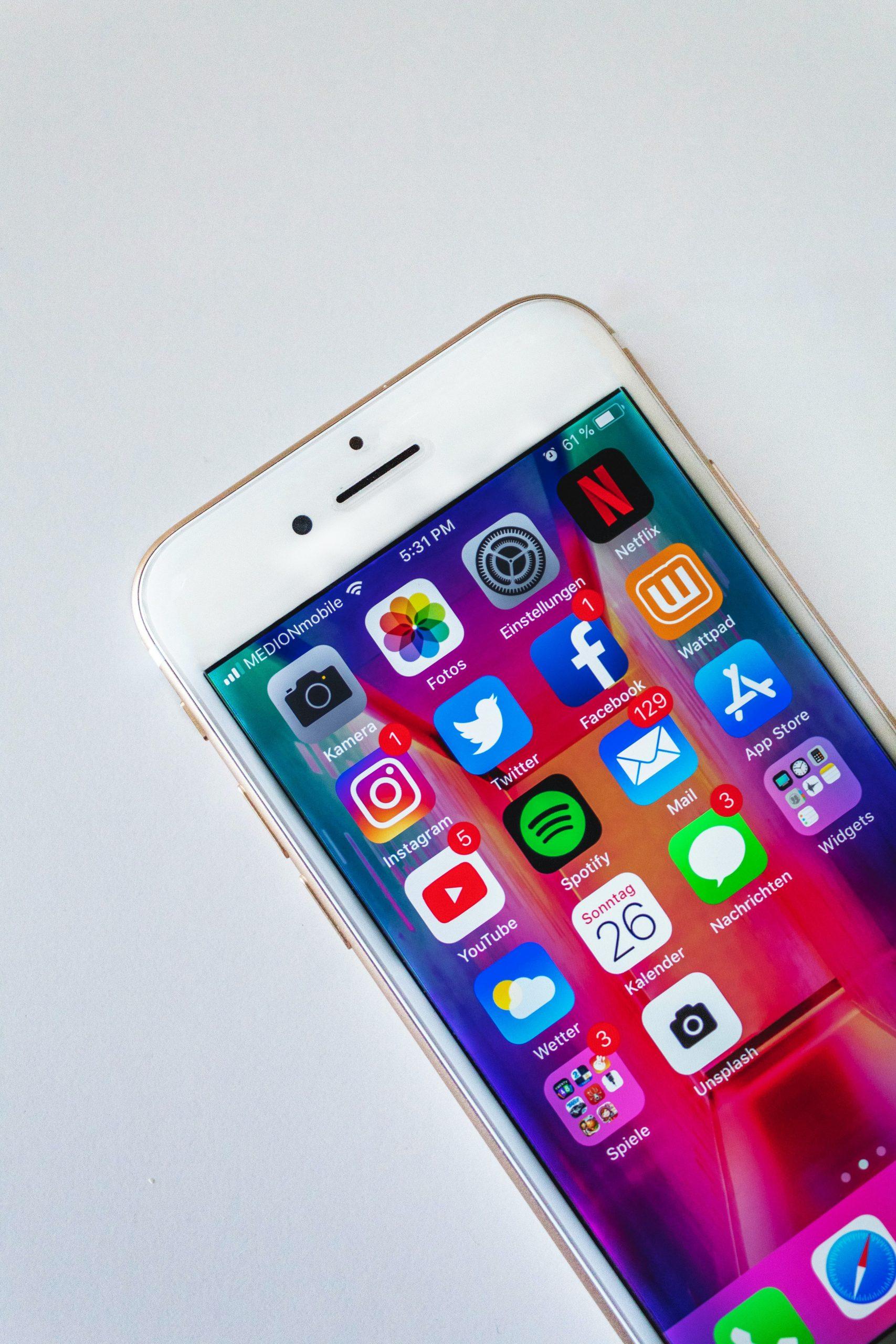 Apps móviles de redes sociales