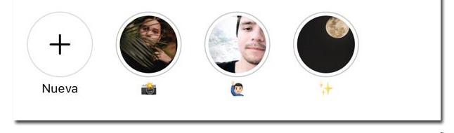 Historias destacadas en perfil de Instagram