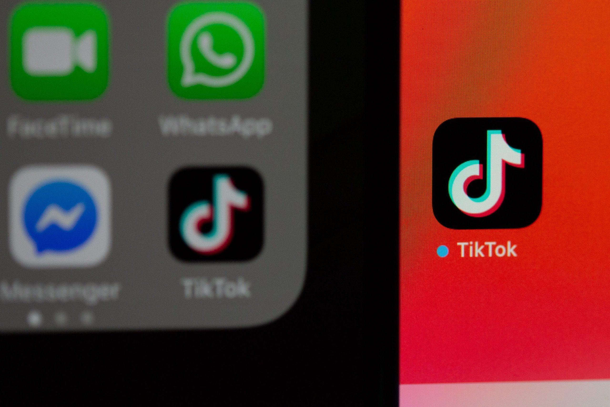 App de TikTok en el movil