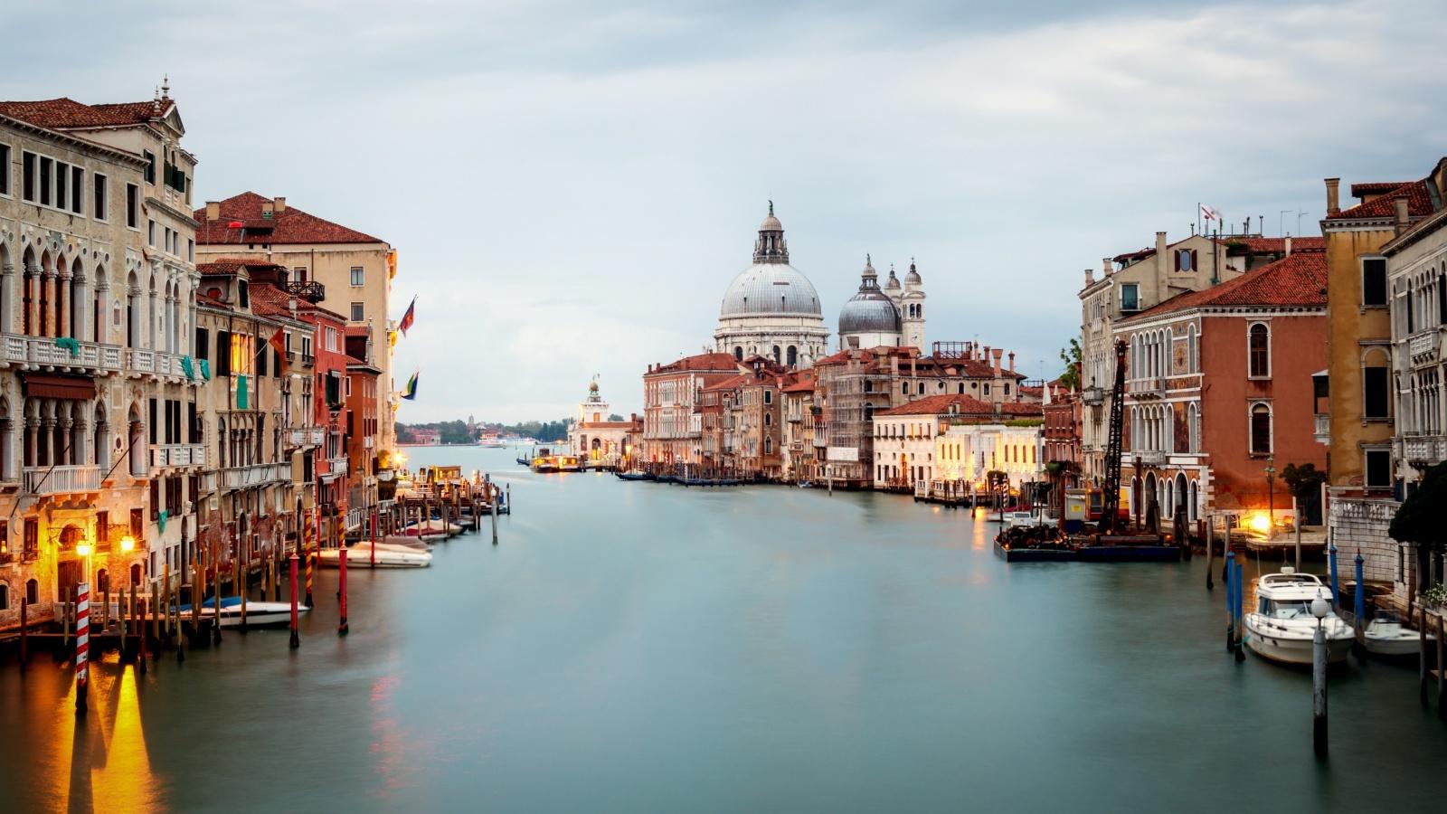 Venice Italy and Basilica Santa Maria della Salute