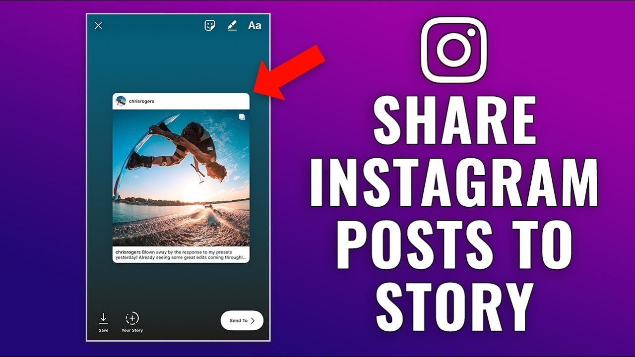 share your Instagram story YouTube