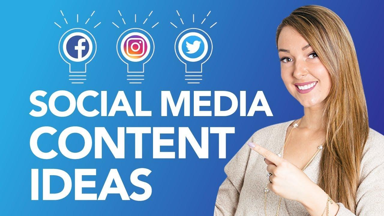 social media content ideas YouTube