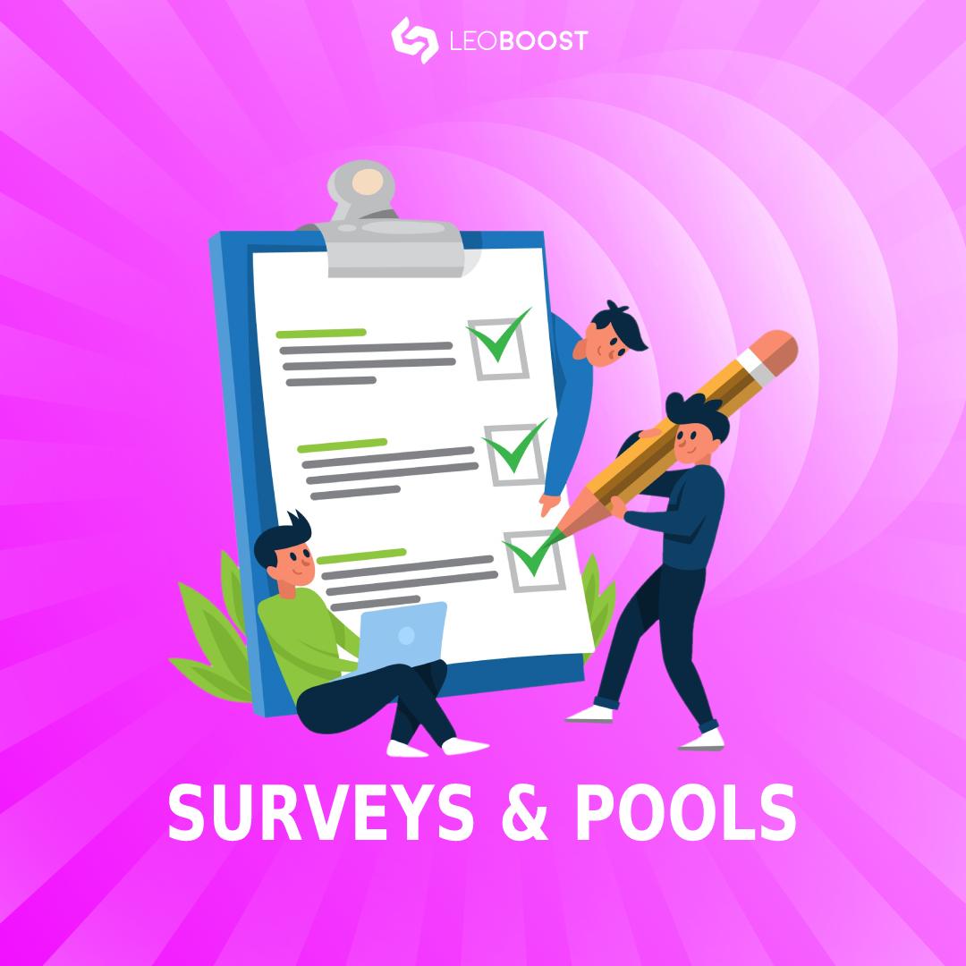surveys and pools